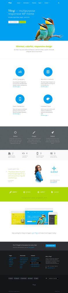 Tfingi, WordPress Responsive Useful Multi-Purpose Theme by Premium Themes, via Behance