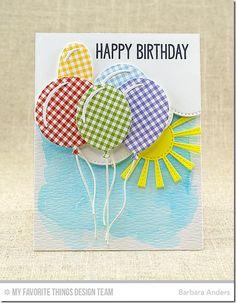 Big Birthday Sentiments Stamp Set, Big Birthday Balloons Die-namics, Sunny Skies Die-namics, Stitched Cloud Edges Die-namics  - Barbara Anders  #mftstamps