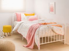 Mocka's Sonata Bed range will add a stylish touch to any kids bedroom. Bedding from Little Yawn.