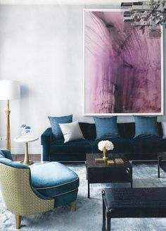 via Dress Design Decor: I often think of taking down all my art and replacing it with one huge piece