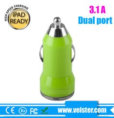 Portable 5V 3.1A Dual USB Car Charger for iphone 5 charger