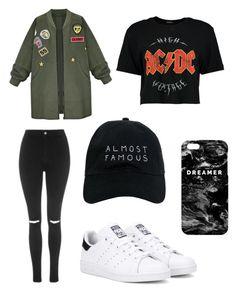 ⚡️🖤🤘🏼  polyvore, fashion, style, Boohoo, WithChic, Topshop, adidas Originals, Nasaseasons, Mr. Gugu & Miss Go and clothing