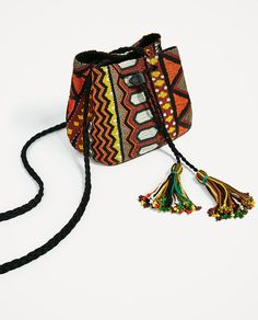 ZARA - WOMAN - BEADED BUCKET BAG