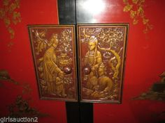 Vintage CHINESE RED lacquer TV CABINET stromberg carlson tube radio phonograph For sale in ohio   tmmassari@aol.com google
