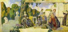 Summer Melody, Oil by Victor Borisov Musatov (1870-1905, Russia)