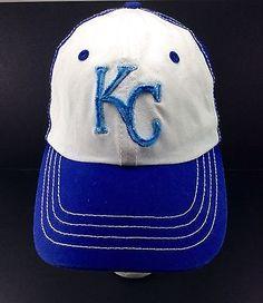 Kansas City Royal KC Sluggerrr's Blue Crew Strapback Hat MLB Blue Crew Royals