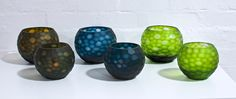 Round Cut Glass - Moss, Ink, Fern| Great Ocean Road from $55