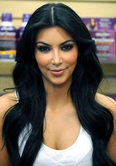 Kim Kardashian having women dye there hair jet black since 2009