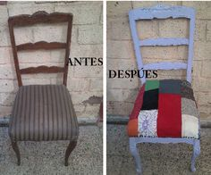 Antes y después silla normando Ladder Decor, Home Decor, Norman, Before After, Chairs, Home Interior Design, Decoration Home, Home Decoration