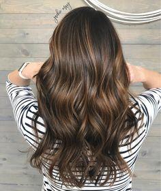 Brown balayage, brunette balayage, balayage, sombre, long bob Haircut, brown hair with highlights, summer hair trend, ombré, highights, caramel highlights