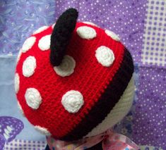 GORRO DE MINNIE MOUSE A CROCHET