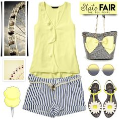 How To Wear State Fair Mellow Yellow (Copied by smiileyelliexox ) Outfit Idea 2017 - Fashion Trends Ready To Wear For Plus Size, Curvy Women Over 20, 30, 40, 50