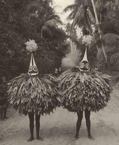 Maxwell R. Hayes, Duk-Duk members (Tolai people of the Rabaul), New Britain, Bismarck Archipelago, Papua New Guinea, 1964