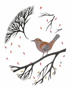 Cetti's Warbler  Archival 5x7 Art Print  door NatashaNewtonArt