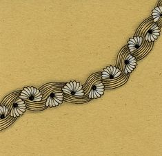 "Drawing Doodles Sketches Here are five more of my favorite tangles. This one is called ""Floral Waves"" and you'll find the pattern and a few video links HERE at P. Zentangle Drawings, Doodles Zentangles, Zentangle Patterns, Doodle Drawings, Zen Doodle Patterns, Tangle Doodle, Tangle Art, Pattern Drawing, Pattern Art"