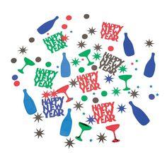 Bright New Year's Confetti