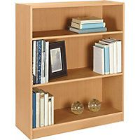 Maine Small Extra Deep Bookcase - Beech Effect. £22.99