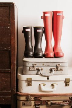 Packing for a festival - two pairs of wellies will work with any look. Original Short boots in Black and Original Headliner Boots - great choices by Jazzabelle's Diary!