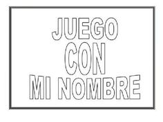 Proyecto del nombre original Math Classroom, Classroom Activities, Preschool Education, Pre Writing, Literacy Centers, School Days, Lettering, Teaching, How To Plan