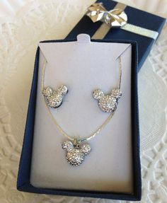 MOUSE EARS Necklace and Earrings for Wedding Party by hairswirls1, $15.99