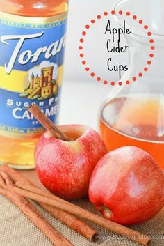 Apple Cider Cups - fun idea!!