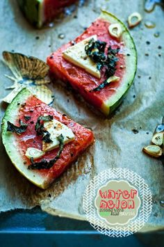 Spicy Watermelon Slices - pair with Pinot Grigio Yum Wine Recipes, Great Recipes, Cooking Recipes, Favorite Recipes, Yummy Recipes, Salad Recipes, Bbq, Watermelon Slices, Grilled Watermelon