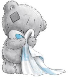 Adorable Tatty Teddy With His Blankie!!