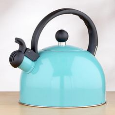 Enamel Tea Kettle, Aqua...Jessie this is for u. I got mine at target for 30$ then saw this and I coulda got it for 15$