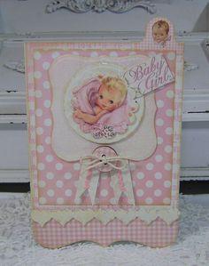 Kaisercraft Bundle of joy - Girl card Baby Scrapbook, Scrapbook Cards, Baby Girl Cards, Rustic Baby, Baby Shower Cards, Baby Boy Newborn, Handmade Baby, Kids Cards, Cute Cards