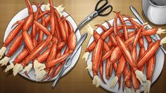 Culinary Adventures and More : Anime Food Re-creation: Mirrai Nikki's Crab Legs