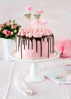 Rosa Mädchen-Geburtstagstorte