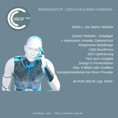 Die kleine Website - Onepager für den Start ins Internet Web Design, Internet, Website, Creative, Hamburg, Graphics, Design Web, Website Designs, Site Design