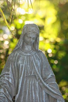 Cloister of the Heart : Mondays with Mary Mother Mary, First World, Mondays, Darth Vader, Statue, Garden, Heart, Garten, Virgin Mary