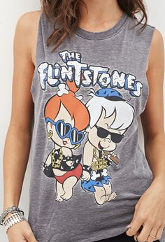 The Flintstones Muscle Tee - Pebbles and Bamm Bamm | FOREVER 21
