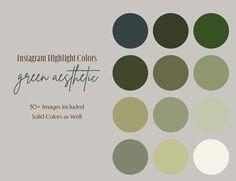 Instagram Highlight Cover Icons, Instagram Highlight Cover, Instagram, Green, Aesthetic,  Highlight Covers, Icons, Boho, Greenery