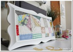 framing quilt pieces...pretty repurposing {what a great way to save a damaged quilt! Save some of the nicest spots; cut; frame!} I have a hard time cutting even ragged quilts--can I do this???