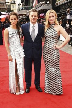 Matt Damon, Julia Stiles, and Alicia Vikander at an event for Jason Bourne Bridesmaid Dresses, Prom Dresses, Formal Dresses, Wedding Dresses, Jason Bourne 2016, Julia Stiles, Alicia Vikander, Matt Damon, 50 Shades Of Grey