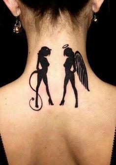 Devil & angel tattoo