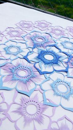切り絵「花鳥風月」花1-2|コトコト切り絵中