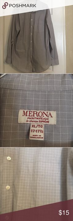 💎 Men's Dress Shirt Good condition Men's Dress Shirt• bluish Gray Color  💎 50% OFF SELECT BUNDLES💎 Includes all items with 💎 • To Purchase Bundle the Items then offer 50% off the original listing prices Merona Shirts Dress Shirts
