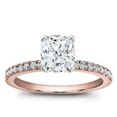 This Rose Gold Engagement Ring is a classic style, but with a rosy twist!