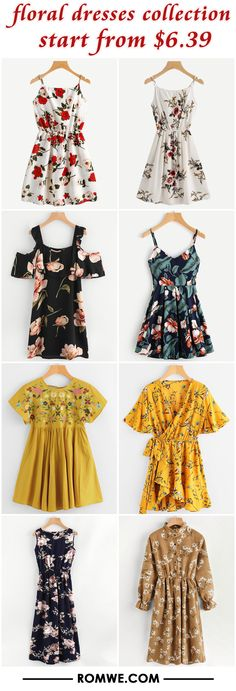 floral dresses collection from $6.39