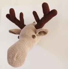 DIY PDF Pattern moose head crochet pattern by Anitareus on Etsy