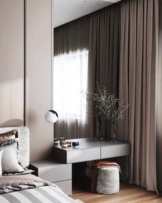Modern Bedroom Design, Home Interior Design, Bedroom Designs, Interior Office, Room Interior, Modern Design, Home Decor Bedroom, Living Room Decor, Outdoor Bedroom