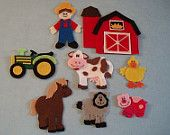 mcdonald has a Farm Felt by JillyPooCreations