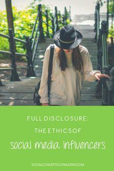 Full Disclosure: The Ethics of Social Media Influencers - Social Concepts - Social Media Consulting