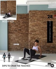 Fitness Workouts, Full Body Hiit Workout, Gym Workout Videos, Gym Workout For Beginners, Fitness Workout For Women, At Home Workouts, Fitness Tips, Muscle Fitness, Toe Touches