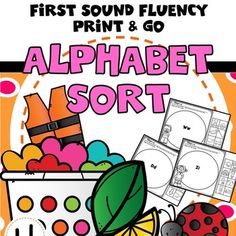 These alphabet worksheets reinforce letter sounds, beginning sound fluency, and sorting. These beginning sound alphabet sorting pages are great practice for initial sound fluency ( first sound fluency) and alphabet sound recognition. This alphabet worksheet set is a perfect addition to guided readi... Teaching Letter Sounds, Alphabet Sounds, Teaching Letters, Student Teaching, Alphabet Worksheets, Alphabet Activities, Writing Activities, Teaching Resources, Alphabet Phonics
