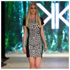 Kardashian Kollection Snow Leopard Ponte De Roma Dress