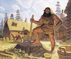 Tolkien Calendar Sep 1978 Beorn the Berserker, Brothers Hildebrandt